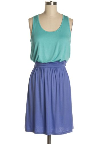 $37.95 Opposites Attract Dress in Teal/Lilac at dress911.com