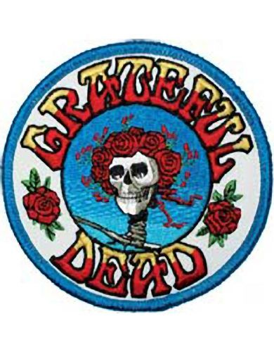 The Grateful Dead Skull And Roses Logo - Embroidered Patches Can Be Ironed On Or Sewn