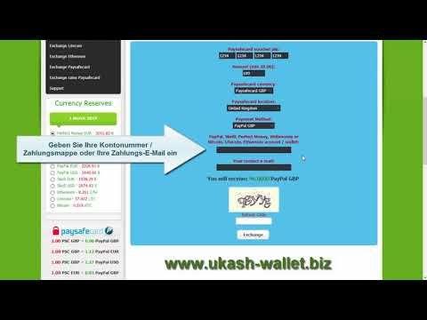 Aufladen Von Paypal Skrill Perfect Money Wm Btc Ltc Eth Und Dash K
