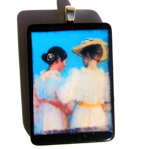 #Photo #Pendant #SISTERS AND FRIENDS tile Swarovski crystals | LDPhotography - #Jewelry on ArtFire #afpounce #TY