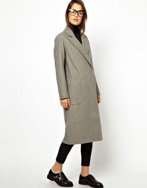 Image 4 of ASOS Oversized Wrap Front Coat