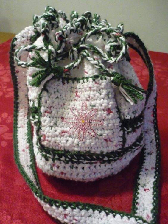 Crochet Round Pouch : Round crochet bag. Crochet handbag. Shoulder Bag. by Janevadesigns, $ ...