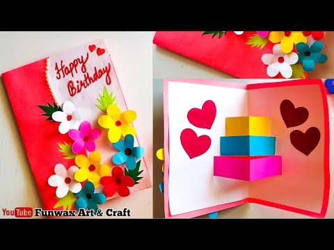 Diy Happy Birthday Card Handmade Easy Card Tutorial Make Birthday Greeting C Happy Birthday Cards Diy Happy Birthday Cards Handmade Handmade Birthday Cards