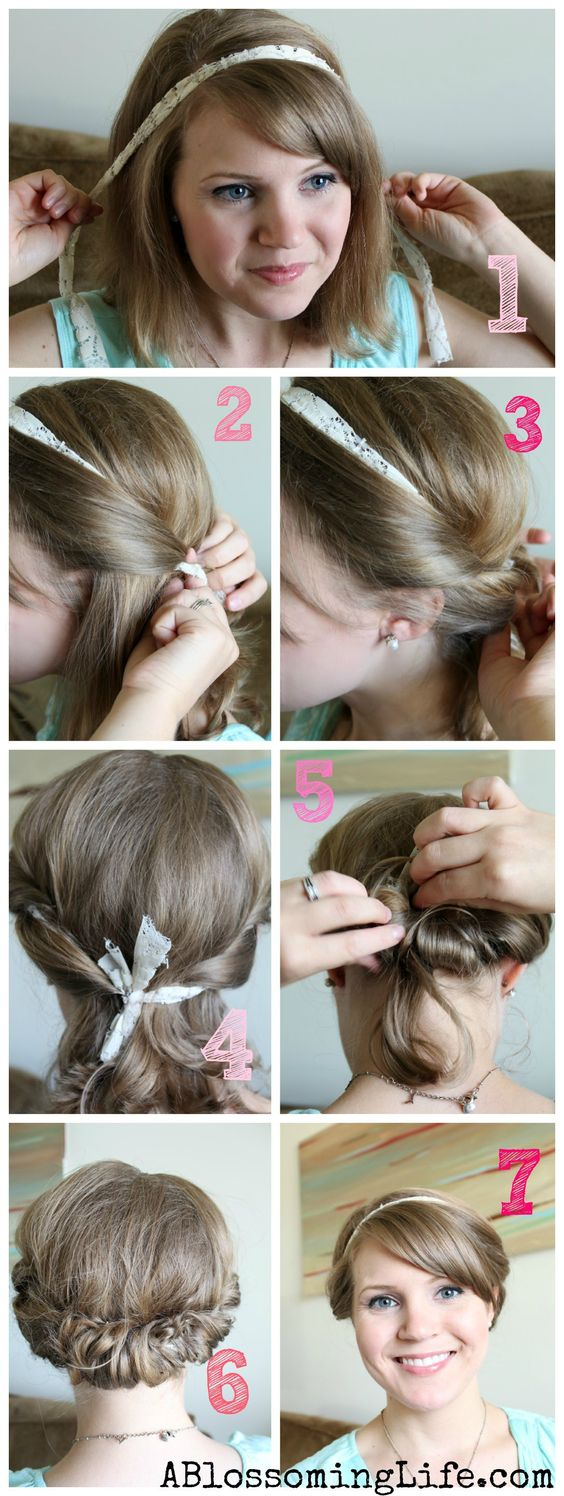 Remarkable Updo Easy Updo Tutorial And Schools In On Pinterest Short Hairstyles Gunalazisus