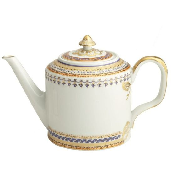 Mottahedeh Chinoise Blue Teapot (€340) ❤ liked on Polyvore featuring home, kitchen & dining, teapots, no color, mottahedeh, porcelain tea pot, porcelain teapot, blue tea pot and blue teapot