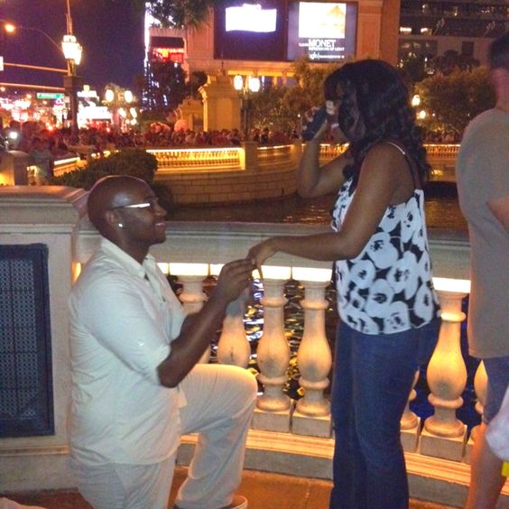 My boyfriend proposed in front of the Bellagio last night (July 28th)!