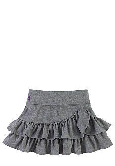 Ralph Lauren Childrenswear Knit Ruffled Cotton Skirt Toddler Girls