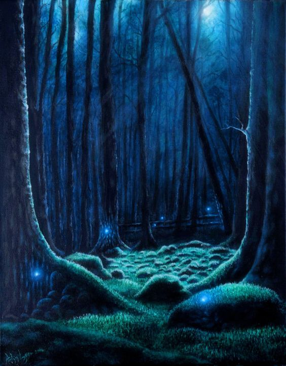 Will o the Wisp by Gwillieth.deviantart.com on @DeviantArt - I really like how the artist brings out the moonlight effect so well!