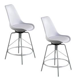 Boston Loft Furnishings Rayi Set Of 2 White Tall 36 In And Up Stool Chairs Loft