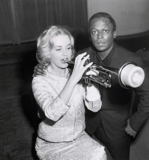 Miles Davis and Jeanne Moreau
