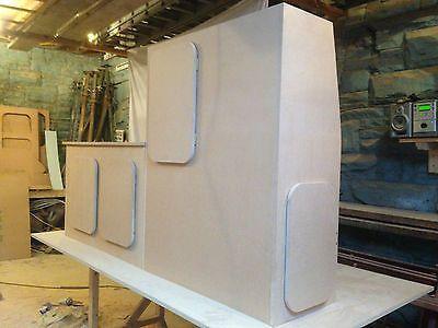 Vauxhall vivaro kitchen unit cupboards camper van for Camper van kitchen units