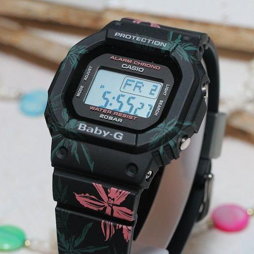 G Shock Baby G Summer Floral Black Bgd560cf 1 Baby G Shock G Shock G Shock Watches