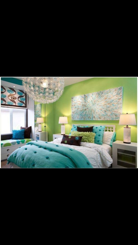 20 fashionable turquoise bedroom ideas dream bedroom for Decoration 640