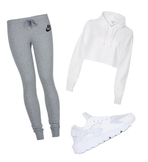 """""""Untitled #77"""" by lignonolivia on Polyvore featuring River Island and NIKE"""