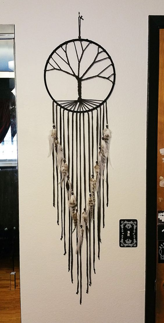 tree of life dream catcher good thoughts the feathers. Black Bedroom Furniture Sets. Home Design Ideas