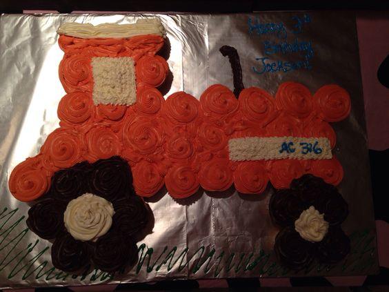 Allis Chalmer Birthday Cupcake Cake Allis Chalmers