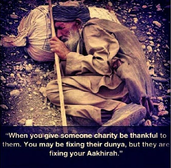 The opportunity to give is another blessing of Allah. Which of the blessings of your Lord will you deny? ( whenever I see this pic I can't control my emotions)