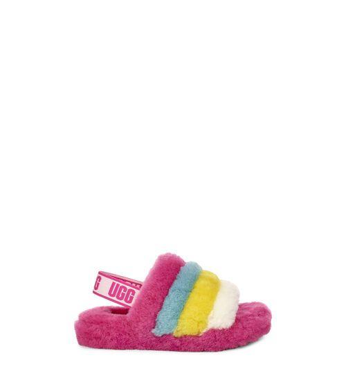 UGG Kids' Fluff Yeah Slide Rainbow
