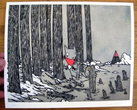At the Edge of the Forest Print   Little Paper Planes