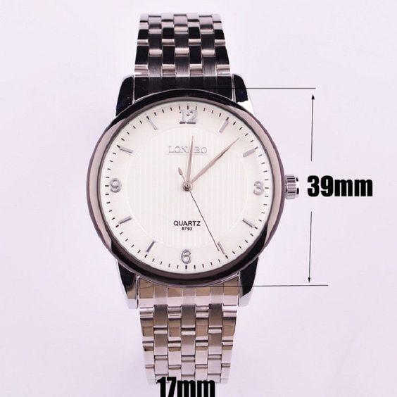 FREE SHIPPING WORLDWIDE - LONGBO brand Waterproof Full Steel watches men luxury brand montre homme mens watches top brand luxury relogio masculino 2015