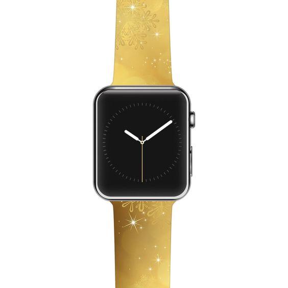 "Snap Studio ""Golden Radiance"" Yellow Apple Watch Strap"