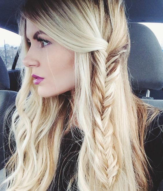 Barefoot Blonde fishtail braid