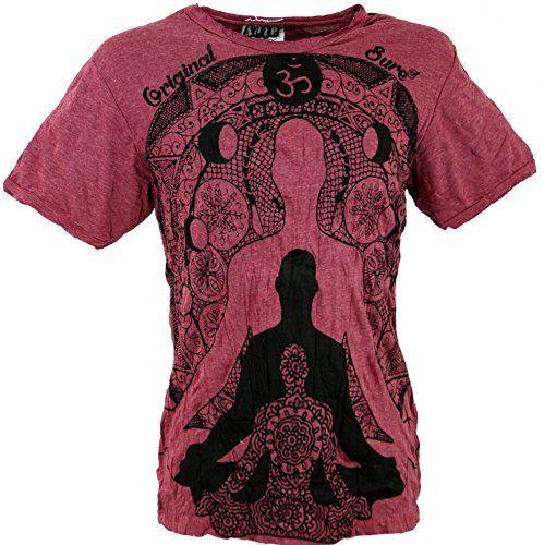 Guru Boutique T Shirt Sur Bouddha Meditation Bordeaux Coton Size Xl Bien Sur Des T Shirts T Shirt Coton Bordeaux