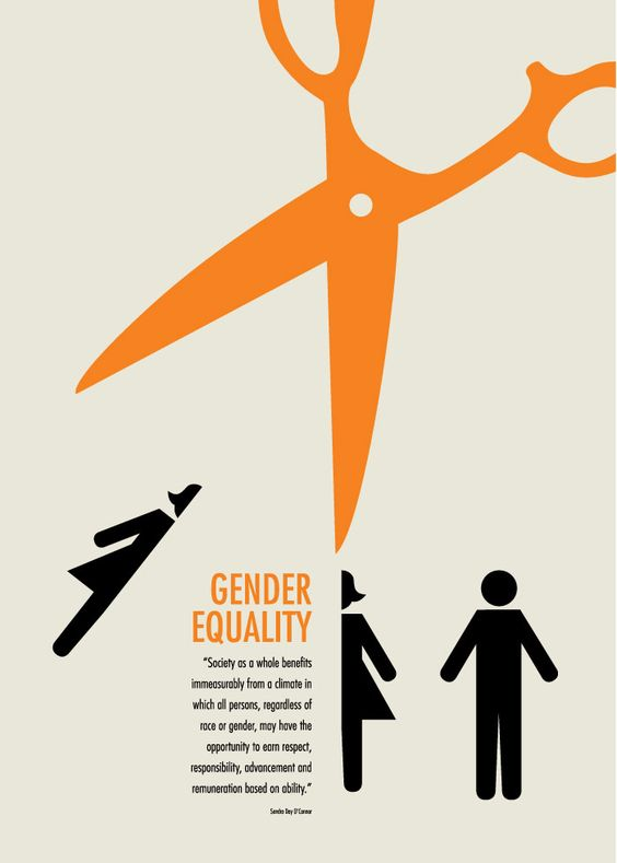 """Gender Equality Now!"" poster, Mary Anne Pennington. Won ... Gender Equality Posters"