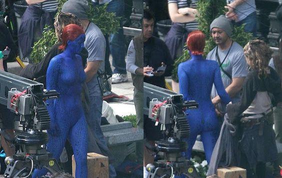 Mystique jennifer lawrence xmen days of future past    ... Jennifer Lawrence como Mystique en el set de 'X-Men: Days of Future