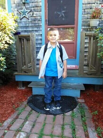 Devin 's first day of school