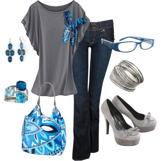 Blue & Grey, created by traci-oleary-reuer