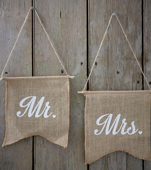 Jute Wimpel Mr Mrs 25 X 22 Cm 2 Stuck Hochzeit Shop Hochzeit Fahnen Hochzeitsdeko