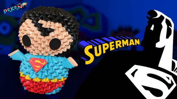 #Origami 3D Superman By Pekeño ♥