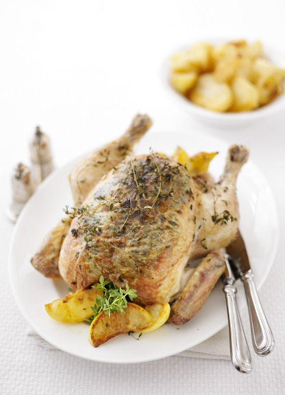 Lemon roast chicken
