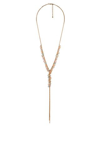 Beaded Chain Fringe Necklace