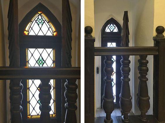 Окна с витражами и ставнями в Кафедральном соборе. Фото: Evgenia Shveda