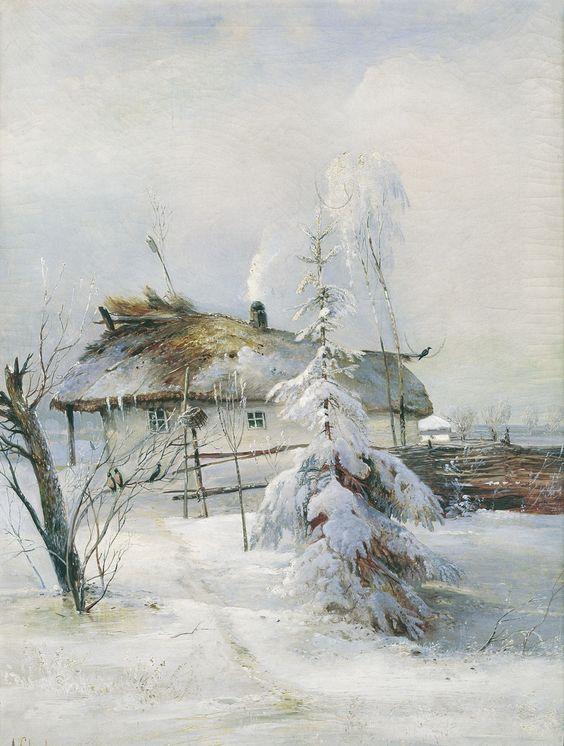 Alexei Kondratyevich Savrasov - Winter, (1873).Oil on canvas, 84 x 62 cm. Samara Regional Art Museum, Russia.