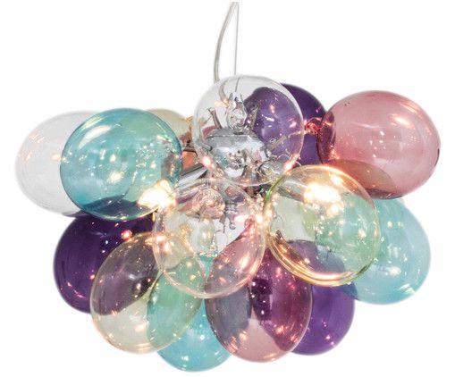 lampadario sfere in vetro trasparente stile moderno; Glaskugel Pendelleuchte Gross Solo Westwingnow Kleine Pendelleuchten Hangelampe Glas Hangelampe