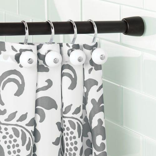 Interdesign Cameo Shower Curtain Tension Rod Black Shower