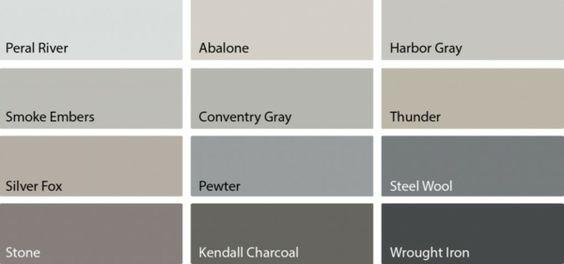 Graue und Schattierungen von Grau als Farbpalette für Wohnzimmer