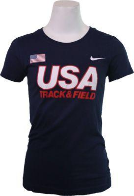 Nike USATF Classic Womens Short Sleeve Tee