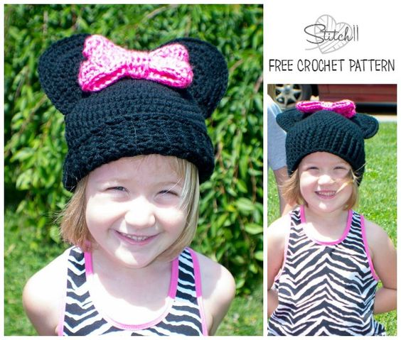 Child-Teen/Small Adult Size Mouse Hat with a Bow