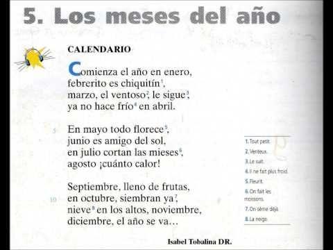 Calendario poema los meses del a o youtube las for En 4 meses termina el ano