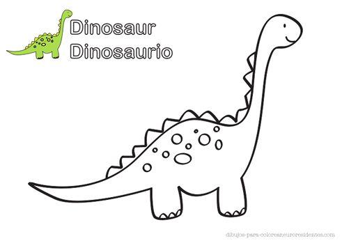 Dinosaurio para colorear | imprimibles | Pinterest
