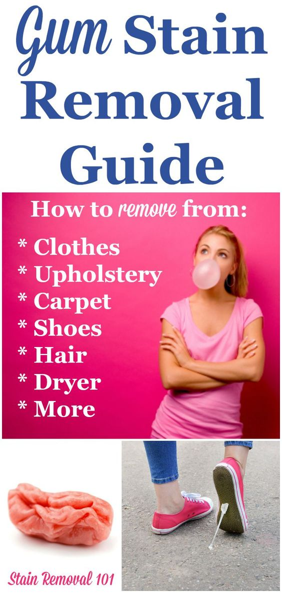 Chewing Gum Stain Removal Guide Upholstery Carpets And