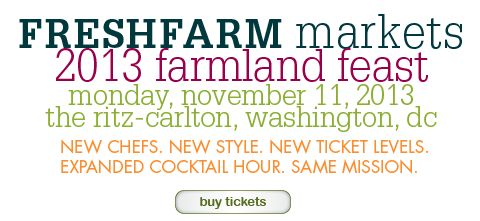 2013 FRESHFARM  Markets Farmland Feast || Conscious Cakes will be one of the featured gifts! Check it out if you're in the area!