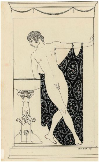 Narcisse, illustration by Georges Barbier from Nijinsky, 1913