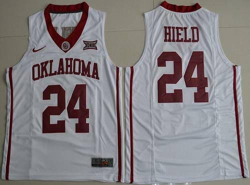 Men's Oklahoma Sooners #24 Buddy Heild Red 2016 College Basketball Nike Jersey
