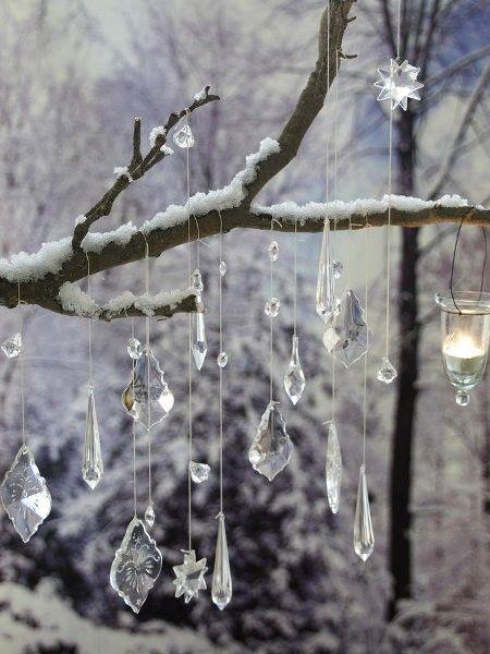 winterliche bastelideen schnee eis schnee outdoor dekorationen und einrichten wohnen. Black Bedroom Furniture Sets. Home Design Ideas