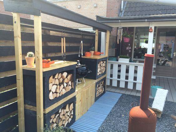 Buitenkeuken maken eigen huis en tuin google zoeken garden shed pinterest search and tuin - Huis bar ...